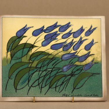 Arabia decorative plate Blue Lilies designer Heljä Liukko-Sundström