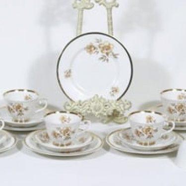 Arabia Myrna kahvikupit ja lautaset, 6 kpl, suunnittelija Olga Osol, siirtokuva