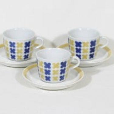 Arabia AH kahvikupit, retro, 3 kpl, suunnittelija , retro, puhalluskoriste, nimetön koriste