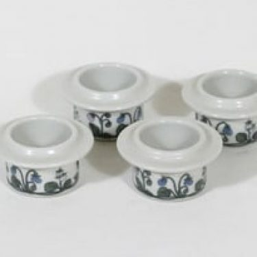 Arabia Flora munakupit, 4 kpl, suunnittelija Esteri Tomula, serikuva