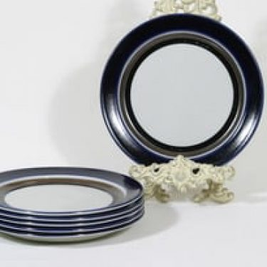 Arabia Saara lautaset, matala, 6 kpl, suunnittelija Anja Jaatinen-Winquist, matala, raitakoriste