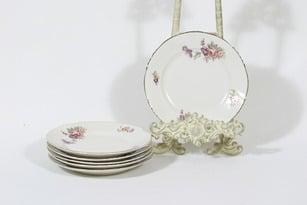 Arabia RE lautaset, kukkakuvio, 6 kpl, suunnittelija , kukkakuvio, pieni, siirtokuva