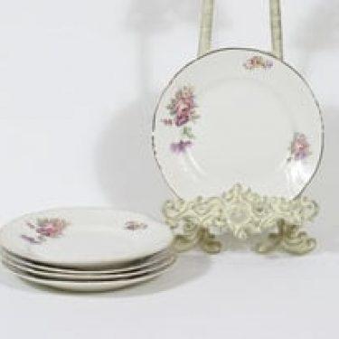 Arabia RE lautaset, kukkakuvio, 5 kpl, suunnittelija , kukkakuvio, pieni, siirtokuva