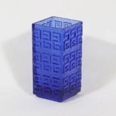 Riihimäen lasi Taalari maljakko, sininen, suunnittelija Tamara Aladin, retro