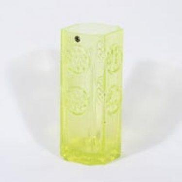 Riihimäen lasi Rondella malajkko, keltainen, suunnittelija Tamara Aladin, suuri, retro
