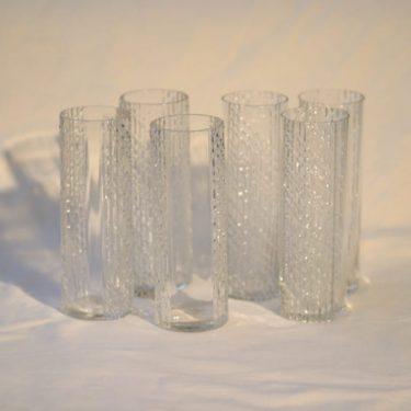 Riihimäen lasi Flindari lasit, kirkas, 6 kpl, suunnittelija Nanny Still,
