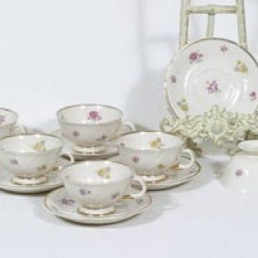 Arabia Rosita kahvikupit, 6 kpl, suunnittelija Svea Granlund, siirtokuva