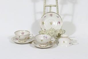 Arabia Rosita kahvikupit, 3 kpl, suunnittelija Svea Granlund, siirtokuva