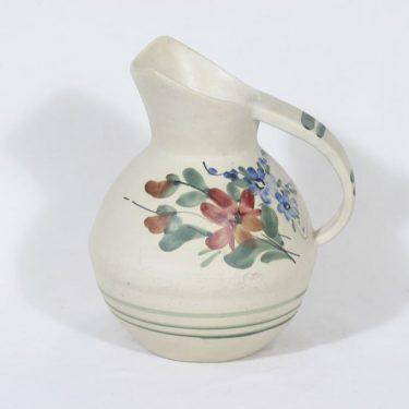 Kupittaan savi 242 jug, hand-painted, designer Eva Suija, signed