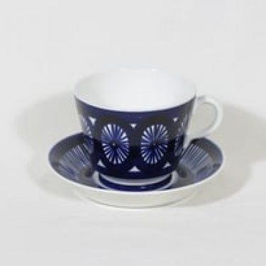 Arabia Fiesta kuppi, 50 cl, suunnittelija Ulla Procope, 50 cl, suuri, käsinmaalattu, signeerattu