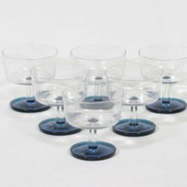 Riihimäen lasi Ultra annosmaljat, kirkas|sininen, 6 kpl, suunnittelija Nanny Still,