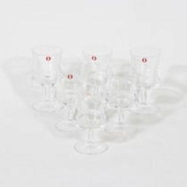 Iittala 2028 lasit, 4 cl, 6 kpl, suunnittelija Tapio Wirkkala, 4 cl, pieni
