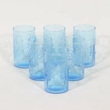 Nuutajärvi 1776 lasit, 20 cl, 6 kpl, suunnittelija Oiva Toikka, 20 cl, pieni