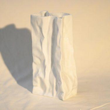 Rosenthal Paperipussi maljakko, suunnittelija Tapio Wirkkala, iso