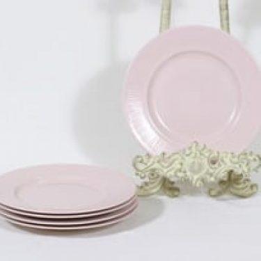 Arabia Sointu lautaset, rosa, 5 kpl, suunnittelija Kaj Franck, pieni