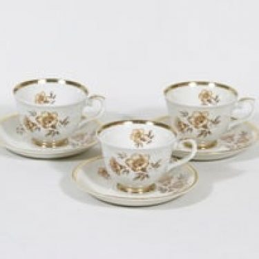 Arabia Myrna kahvikupit, 3 kpl, suunnittelija Olga Osol, serikuva