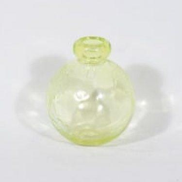 Riihimäen lasi Tellus koristepullo, keltainen, suunnittelija Erkkitapio Siiroinen,