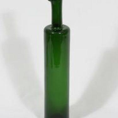 Riihimäen lasi Koristepullo koristepullo, vihreä, suunnittelija Nanny Still,