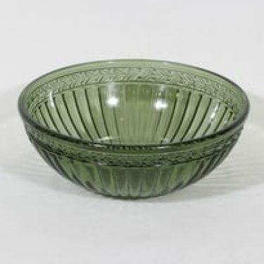 Riihimäen lasi Kara kulho, vihreä, suunnittelija ,