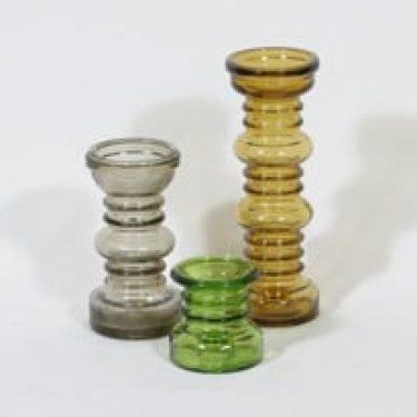 Riihimäen lasi Carmen kääntömaljakot, eri kokoja, 3 kpl, suunnittelija Tamara Aladin, eri kokoja