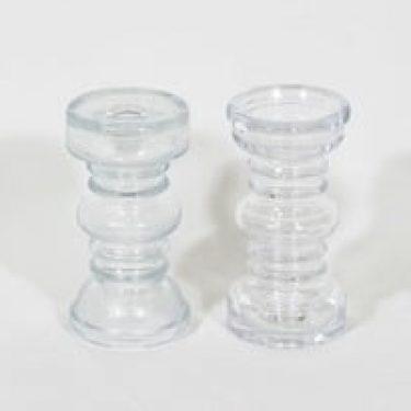 Riihimäen lasi Carmen kääntömaljakot, kirkas, 2 kpl, suunnittelija Tamara Aladin,