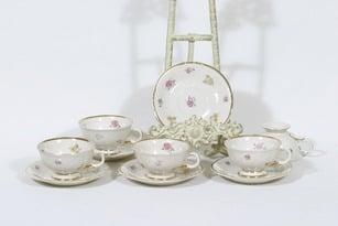 Arabia Rosita kahvikupit, 5 kpl, suunnittelija Svea Granlund, siirtokuva