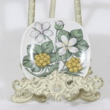 Arabia Botanica koristelautanen, Suomuurain/Lakka, suunnittelija Esteri Tomula, Suomuurain/Lakka, pieni, serikuva