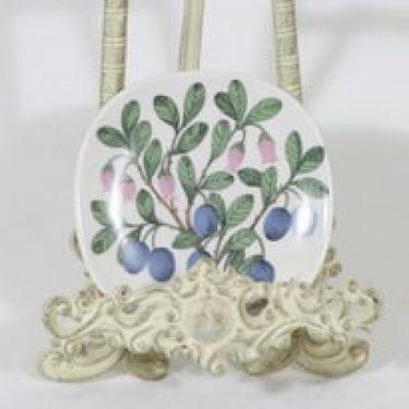 Arabia Botanica koristelautanen, Juolukka, suunnittelija Esteri Tomula, Juolukka, pieni, serikuva