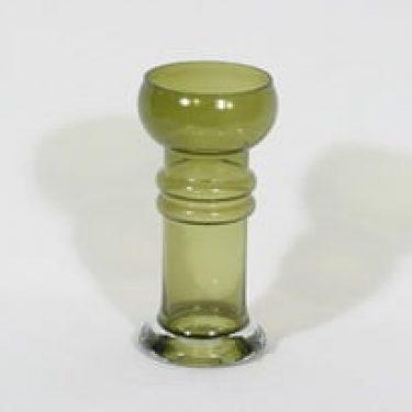 Riihimäen lasi Kielo maljakko, vihreä, suunnittelija Tamara Aladin,