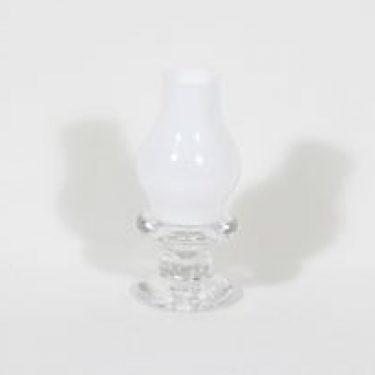 Iittala Pentteri kynttilälyhty, valkoinen kirkas, suunnittelija Timo Sarpaneva, pieni