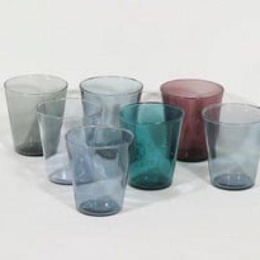 Nuutajärvi Viola lasit, 20 cl, 7 kpl, suunnittelija Kaj Franck, 20 cl