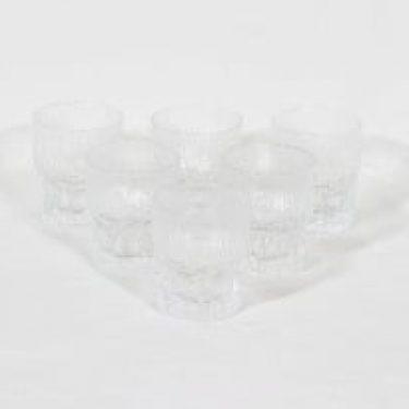 Iittala Aslak lasit, 10 cl, 6 kpl, suunnittelija Tapio Wirkkala, 10 cl