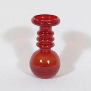 Riihimäen lasi Carmen kääntömaljakko, rubiininpunainen, suunnittelija Tamara Aladin,