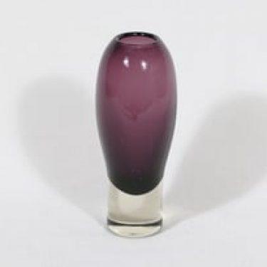 Riihimäen lasi Nimipäivä maljakko, violetti, suunnittelija Aimo Okkolin,