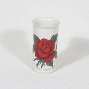 Arabia Botanica maljakko, Rosa baccara, suunnittelija Esteri Tomula, Rosa baccara, serikuva