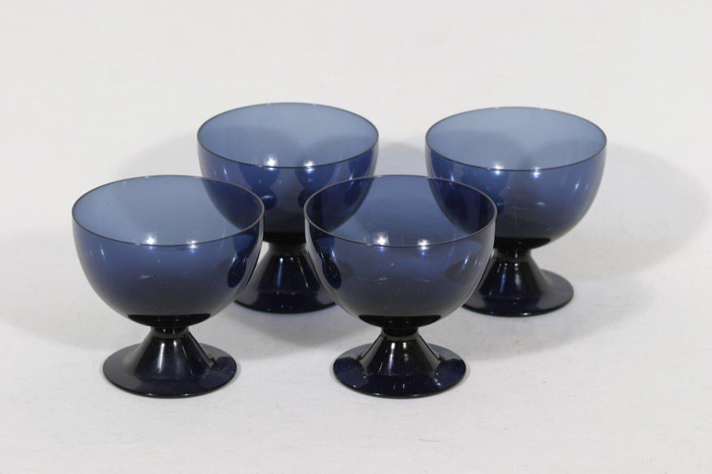 Nuutajärvi Bistro dessert glasses, blue, 4pcs, Saara Hopea