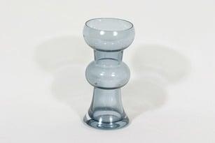 Riihimäen lasi Kielo maljakko, siniharmaa, suunnittelija Tamara Aladin,