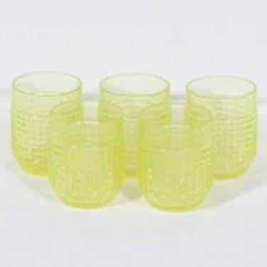 Riihimäen lasi Barokki lasit, 18 cl, 4 kpl, suunnittelija Erkkitapio Siiroinen, 18 cl
