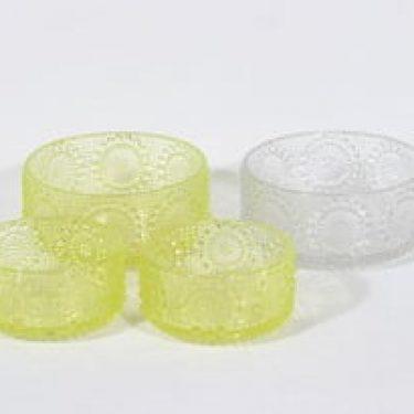 Riihimäen lasi Grapponia kulhot, eri kokoja, 4 kpl, suunnittelija Nanny Still, eri kokoja