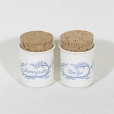 Arabia Sininen maustepurkit, 2 kpl, suunnittelija , painokoriste