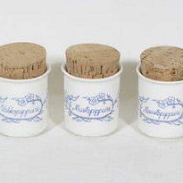 Arabia Sininen maustepurkit, 3 kpl, suunnittelija , painokoriste