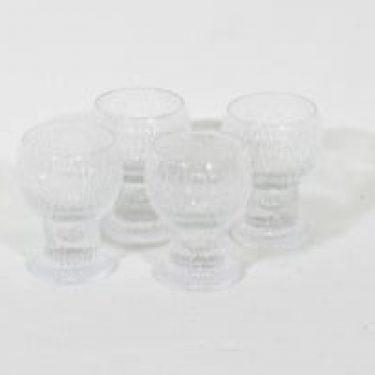 Iittala Kekkerit lasit, 10 cl, 4 kpl, suunnittelija Timo Sarpaneva, 10 cl, pieni