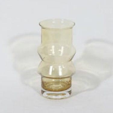 Riihimäen lasi Tuulikki maljakko, amber, suunnittelija Tamara Aladin,