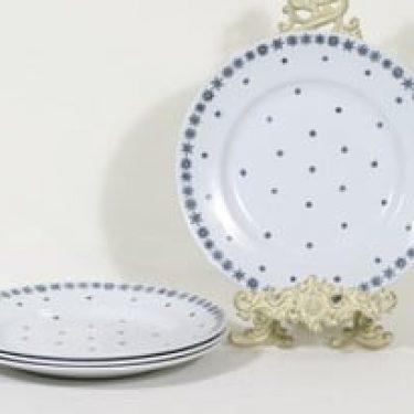 Arabia Snowflake lautaset, matala, 4 kpl, suunnittelija Raija Uosikkinen, matala, painokoriste