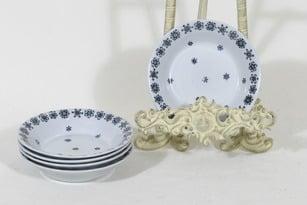 Arabia Snowflake kulhot, 5 kpl, suunnittelija Raija Uosikkinen, pieni, painokoriste
