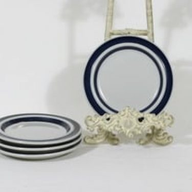 Arabia Anemone lautaset, käsinmaalattu, 4 kpl, suunnittelija Ulla Procope, käsinmaalattu, pieni
