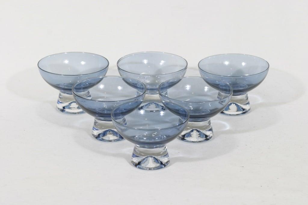 Iittala Mutteripohja dessert glasses, blue, 6pcs, Tapio Wirkkala