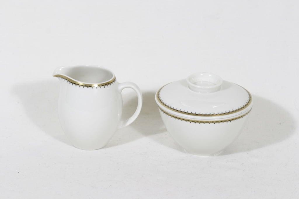 Arabia Virva sugar bowl and creamer, Raija Uosikkinen