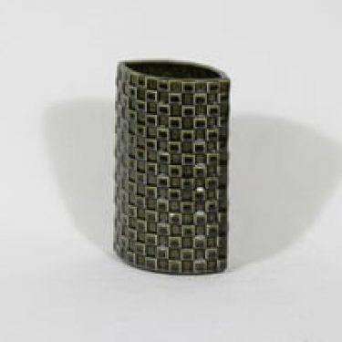 Arabia Harlekiini maljakko, oliivinvihreä, suunnittelija Kaarina Aho,