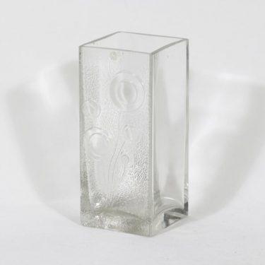 Riihimäen lasi Lucullus maljakko, kirkas, suunnittelija Nanny Still, massiivinen